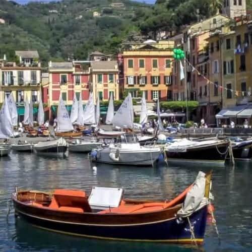 Entering Portofino harbor