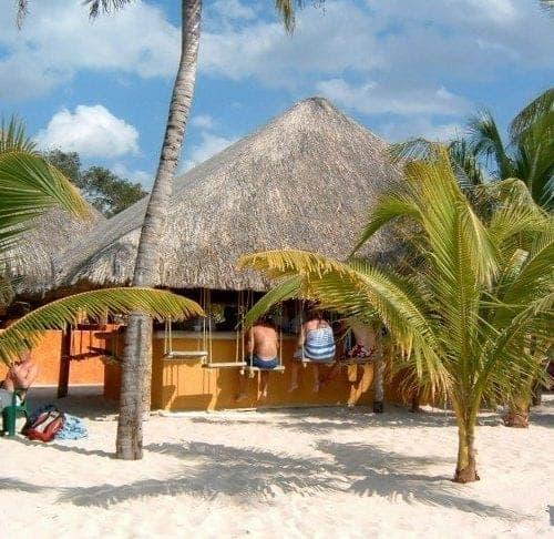 Beachfront Bar in Cozumel
