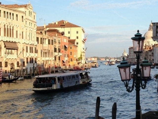 Public vaporetto in Venice