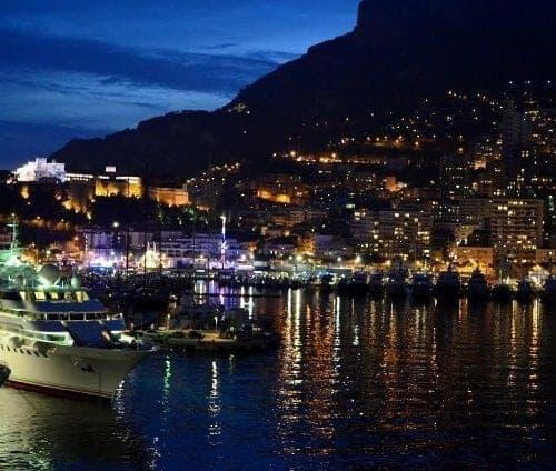 Silver Spirit Monte Carlo at night