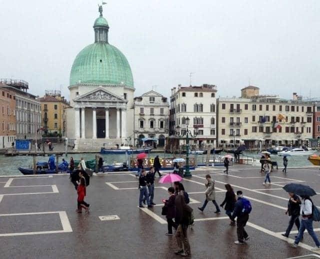 Venice Italy at the Santa Lucia train station