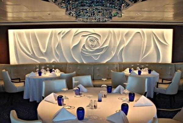 Celebrity Cruises private Blu dining