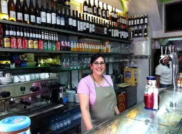 Friendly shopkeeper in Lisbon