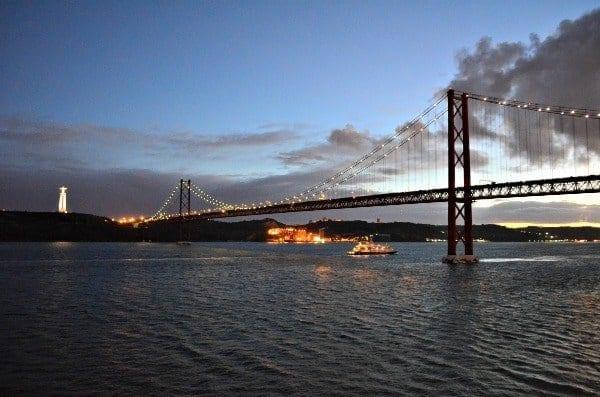 Leaving Lisbon at night