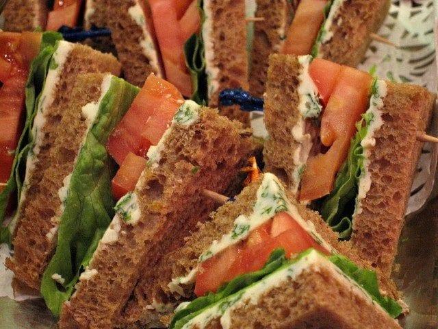 Afternoon tea sandwiches aboard Celebrity