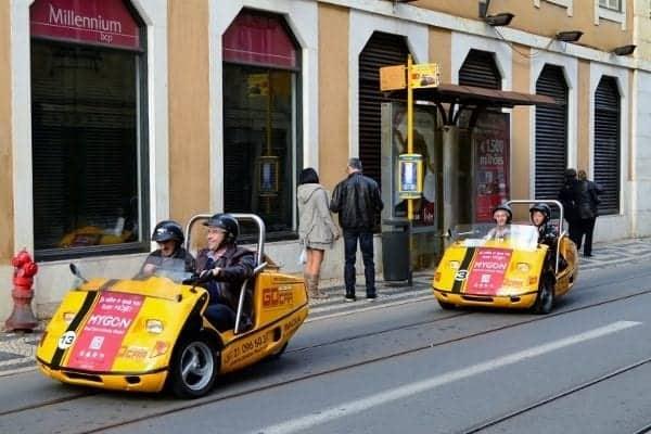 Tour cars in Lisbon