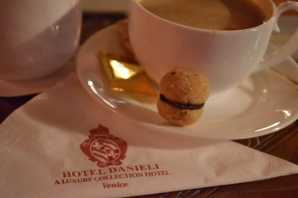 Welcome to Hotel Danieli cappuccino