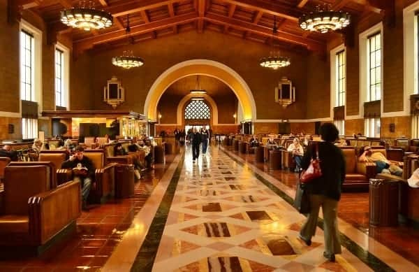 Los Angeles Union Station is restored to its original design and lustre.