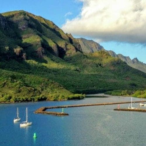 Hawaiian Islands Cruise Nawiliwili Harbor Kauai Hawaii