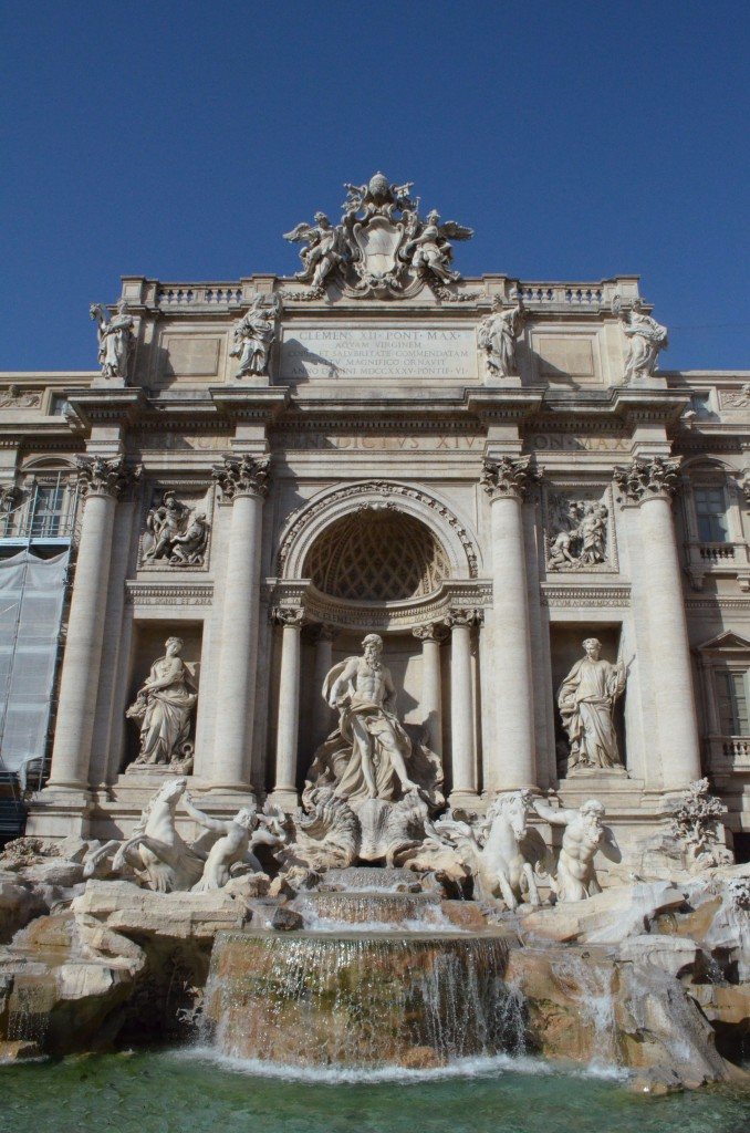 Only a few blocks walk from the hotel to the Trevi Fountain. Yes, of course I tossed a coin into the fountain!