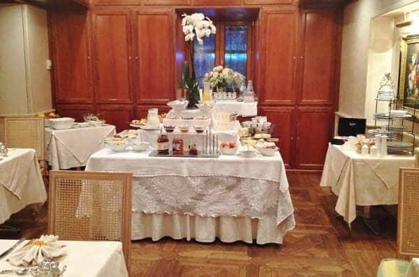 Complimentary breakfast buffet and ala carte menu.