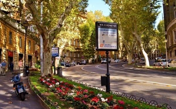 Walk along the Via Veneto, just around the corner from the hotel.