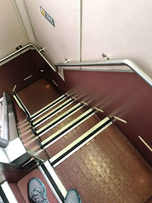 amtrak superliner staircase to upper level