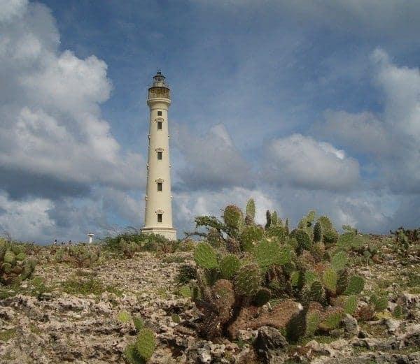 Famous Aruba landmark, the California Lighthouse. Nice Italian restaurant there, too.