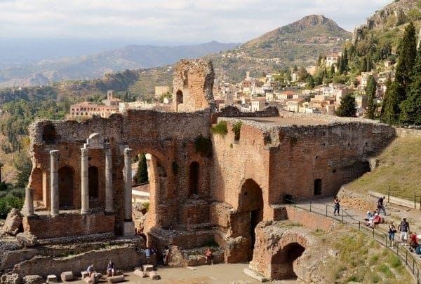 Greek Theater in Taormina Sicily
