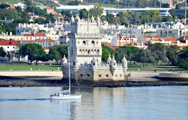 Belem Tower, built in the early 1600s, guarded the waterway into Lisbon.