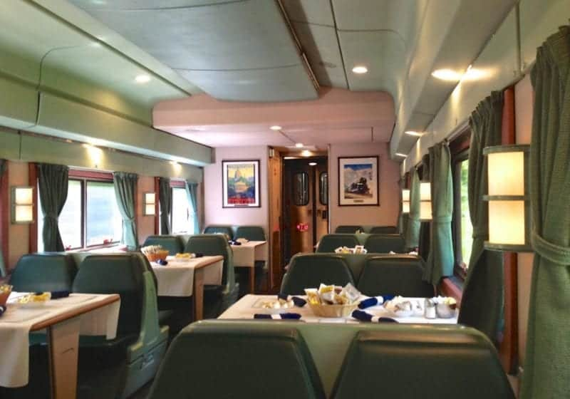 One of the prettiest of the Amtrak Silver Meteor Dining Cars.