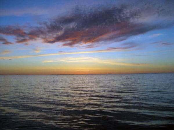A beautiful Baltic summer sunset.