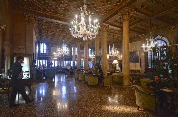 The Lobby at the Hotel Danieli