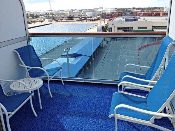 Book a balcony stateroom on deck 10 for an oversized balcony.