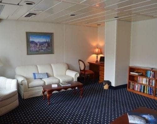 The new Library on the Queen of the West cruises.
