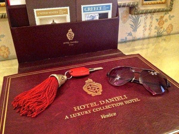 Desk at Hotel Danieli