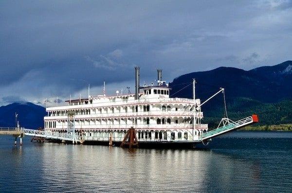 Docked in Stevenson, Washington.