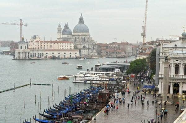 A look to the right and you'll see Santa Maria della Salute Basilica.