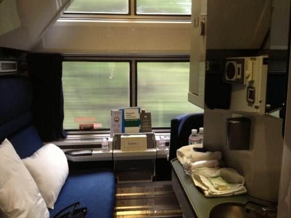 Superliner Bedroom has an en suite bathroom and shower.