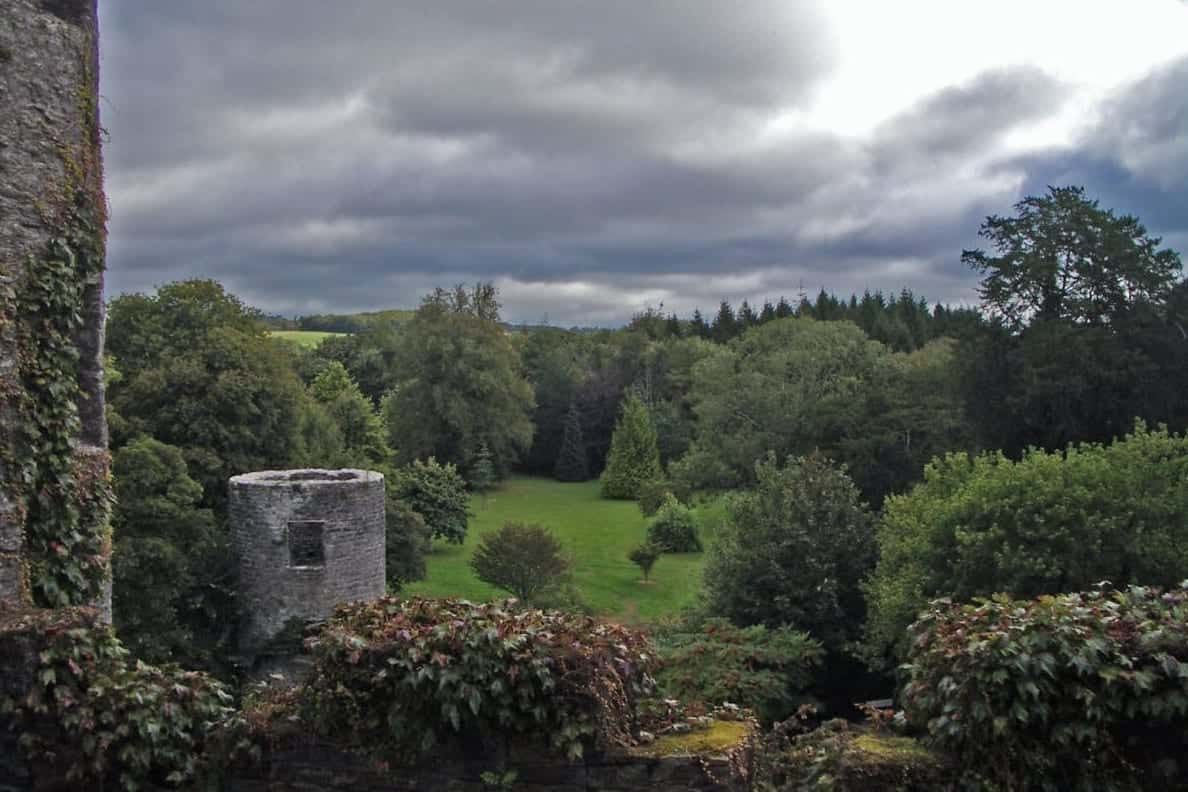 Just before the rain and wind, the gardens from the patio at Blarney Castle took on a magical appearance.