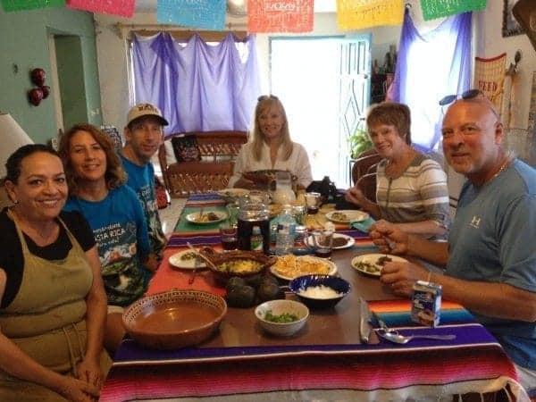 No room left to eat a heavy dessert so Josefina made fresh mango margaritas instead!