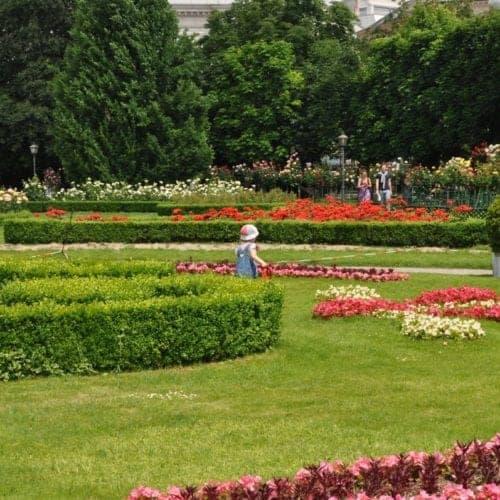 The Volksgarten (People's Park), Rose Garden in Vienna.