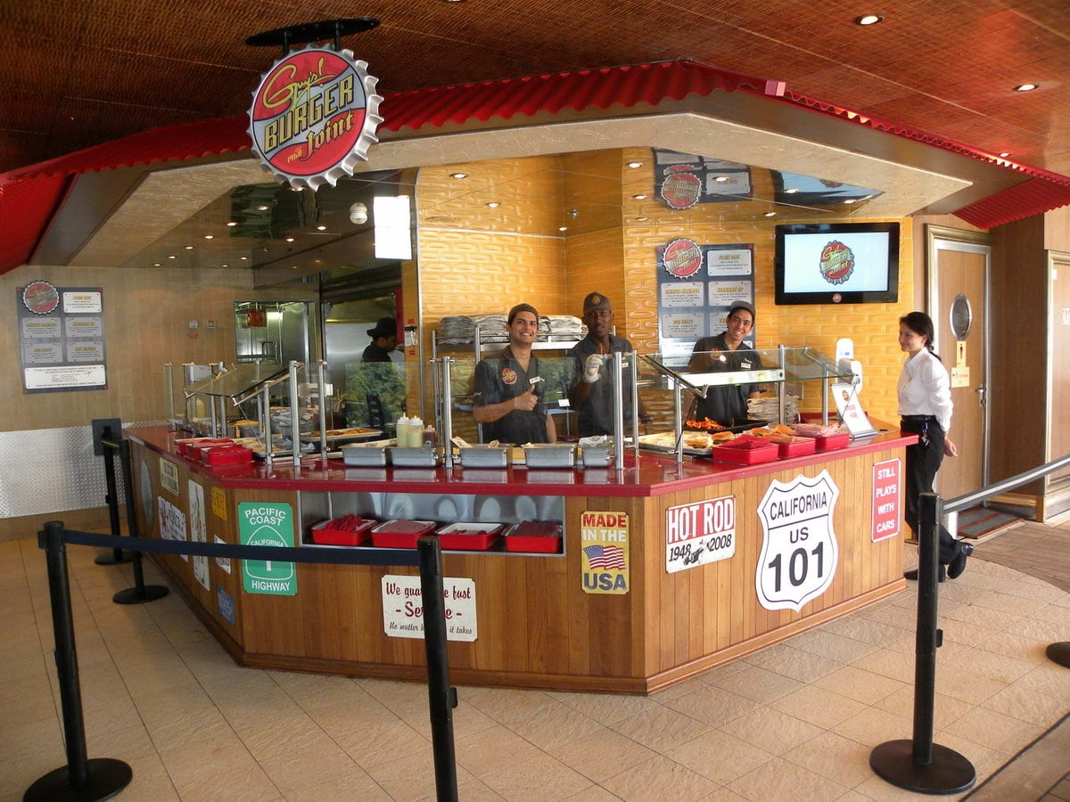 Guy's Burger Joint Aboard Carnival Liberty