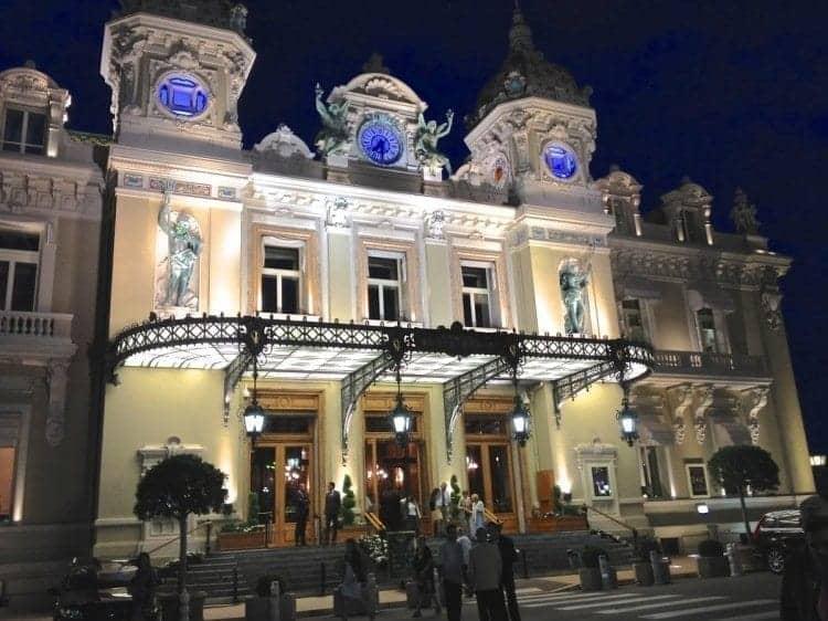 Monte Carlo Casino lit up at night