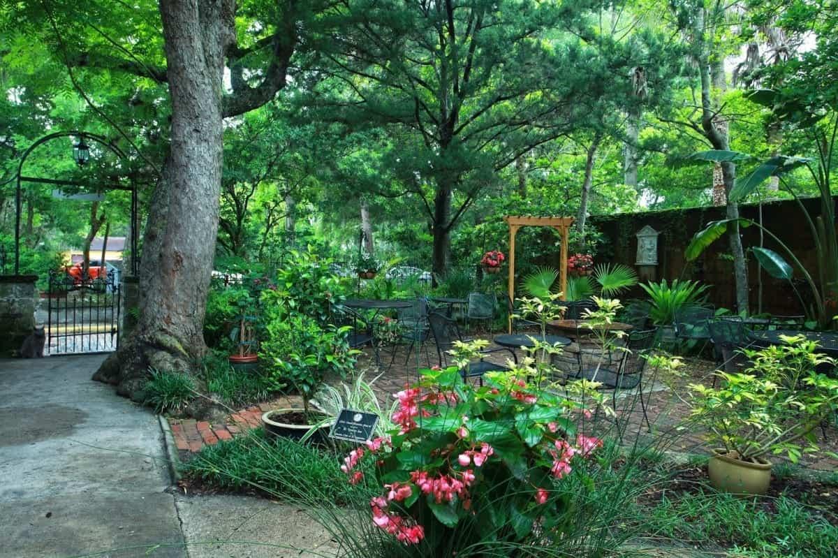 St. Francis Inn beautiful courtyard and garden.
