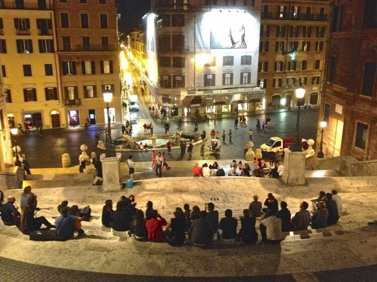 The Spanish Steps, Piazza di Spagna, at night is something to experience.