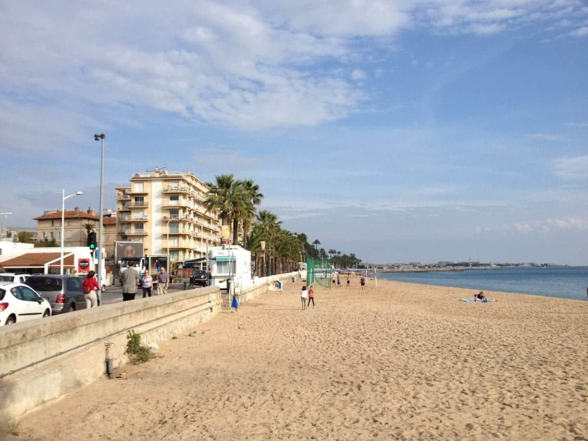 In Cannes, you can walk for miles in either direction along the Mediterranean Sea.