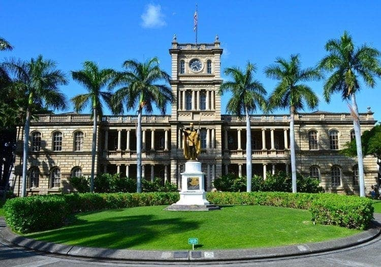 The only royal palace in the United States, it was completed in 1882 by King David Kalakaua.