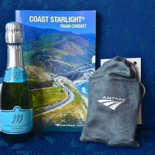 Gift pack on the Amtrak Coast Starlight for sleeping car passengers.