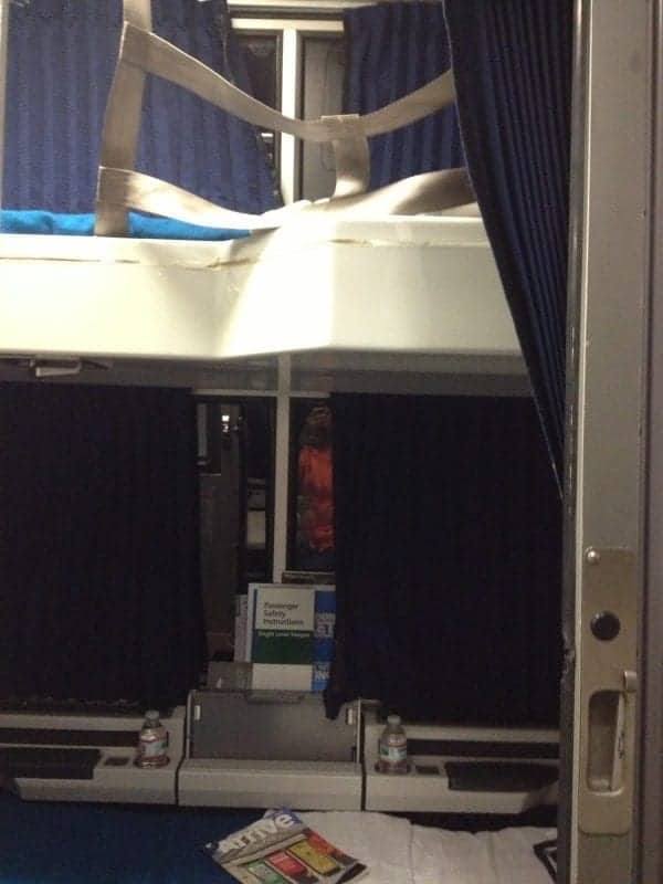 Amtrak Roomette with upper bunk