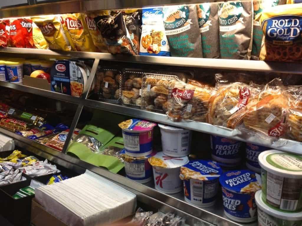 Amtrak snack bar aboard Southwest Chief.