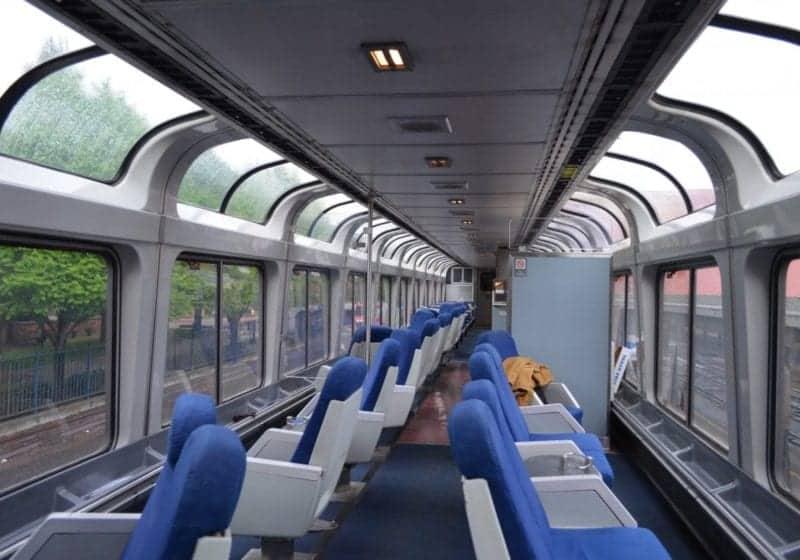 Amtrak Observation Car on the Empire Builder.