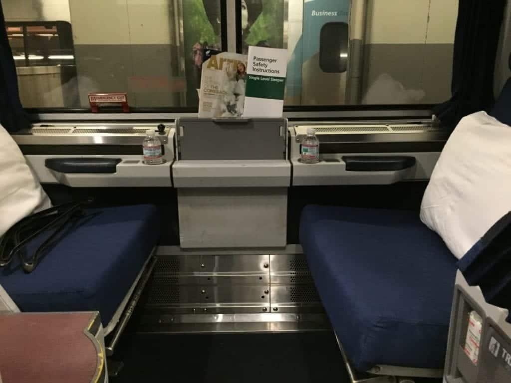 Amtrak overnight train trip in a roomette