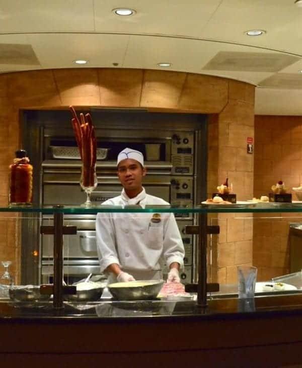 Princess Cruises Sabatini's Restaurant and their signature gnocchi recipe.