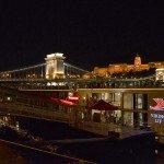 Viking River Cruise Viking Lif docked in Budapest.