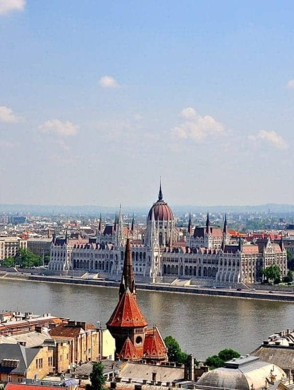 Perfect view of Parliament Building from Fishermans Bastion on my places to visit in Budapest.