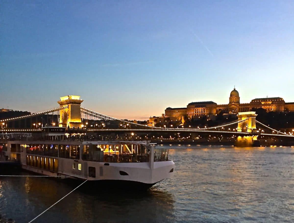 Viking Lif in Budapest at the Chain Bridge