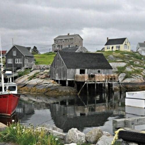 A walk through the village of Peggy's Cove outside of Halifax Nova Scotia.