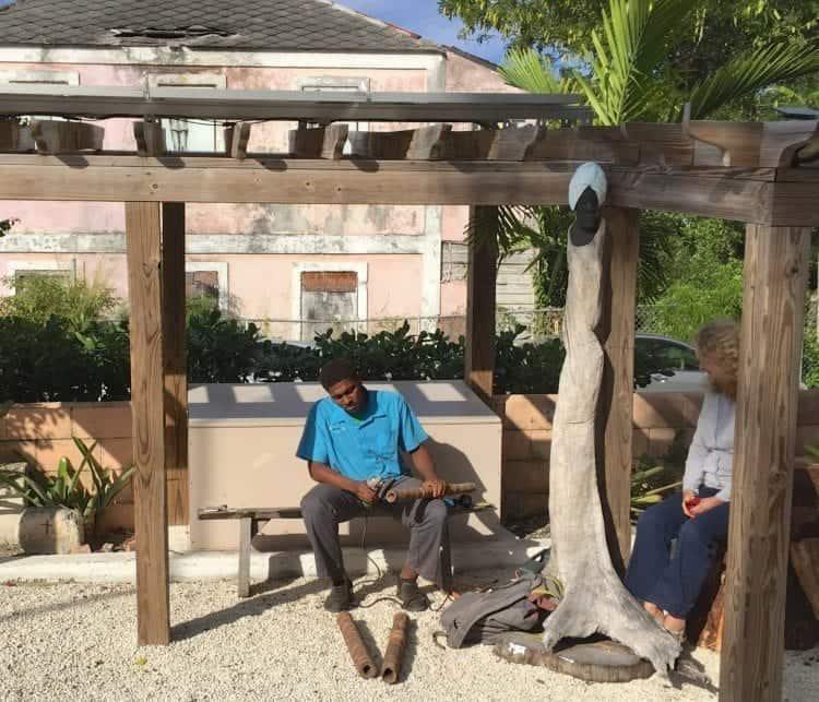 Nassau rum and food walking tour at Hillside House Art Gallery.