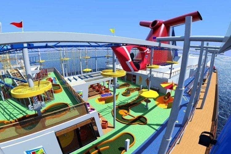 Here's the artist rendering of the Carnival Vista SportsSquare SkyRide.